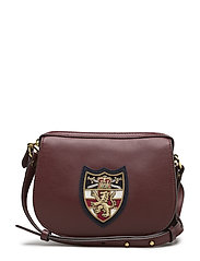 Bullion-Patch Leather Mini Bag - OXBLOOD