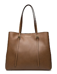 Leather Lennox Tote - SADDLE