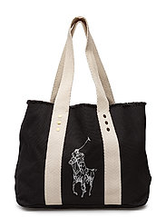 Canvas Big Pony Medium Tote - BLACK