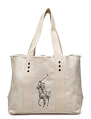 Canvas Big Pony Medium Tote - ECRU