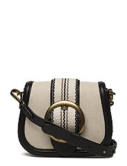 Canvas-Leather Lennox Bag - ECRU/BLACK