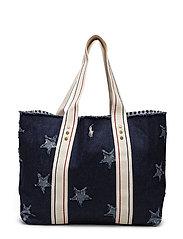 Frayed Star Tote Bag - DENIM