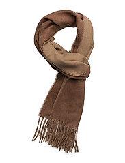 Reversible Wool Scarf - VICUNA/CAMEL MELA