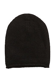 CASHMERE-PERFECT CAP - BLACK