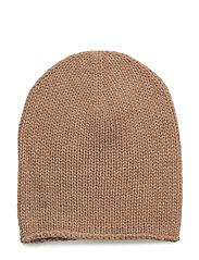 CASHMERE-PERFECT CAP - CAMEL MELANGE
