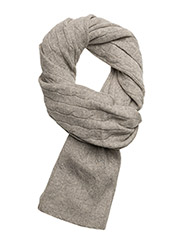 CLASSIC CABLE-CLASSIC CABLE SCARF - LIGHT VINTAGE HEATHER