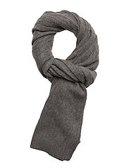 CLASSIC CABLE-CLASSIC CABLE SCARF - ANTIQUE HTHR
