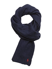 CLASSIC CABLE-CLASSIC CABLE SCARF - BRIGHT NAVY