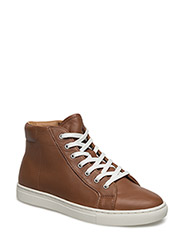 DREE NAPPA HIGH-TOP SNEAKER - CUOIO