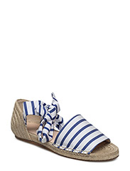 JONI STRIPED CANVAS ESPADRILLE - NAVY STRIPE