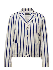 BOBBI BOY BLAZER - NAVY STRIPE/WHI
