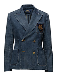 Double-Breasted Denim Blazer - MEDIUM INDIGO