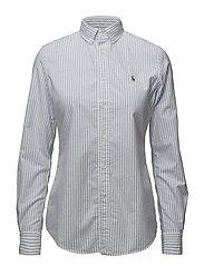 Slim Fit Cotton Oxford Shirt - 580B BLUE HYACINT