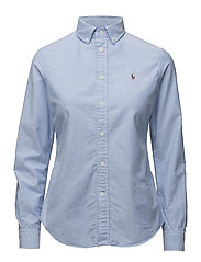 SLIM FIT COTTON OXFORD SHIRT - BLUE HYACINTH