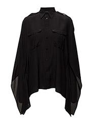 Silk Poncho Shirt - POLO BLACK