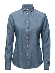 Slim Fit Chambray Shirt - COBALT