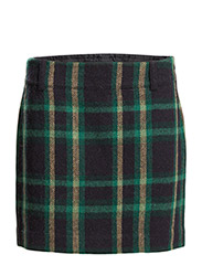 THORTON SKIRT - GREEN/NAVY