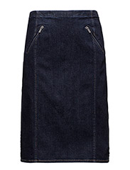 Denim Pencil Skirt - DARK INDIGO