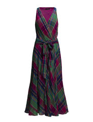 HAVEN SL CASUAL DRESS - PINK/GREEN PLAI