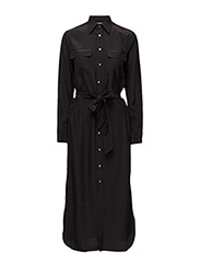 LS NDSHA DRESS - BLACK