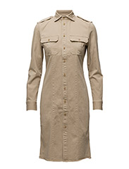 Long Sleeve Raina Dress - COASTAL BEIGE