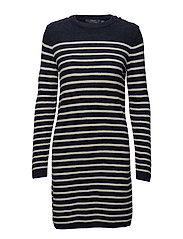 LS CN DRESS-LONG SLEEVE-CASUAL - NAVY/CREAM