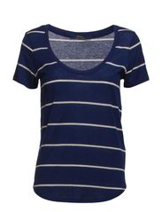ANITA SS KNIT - NAVY/CREAM STRI