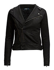 JINNY MOTO JACKET - COATED BLACK