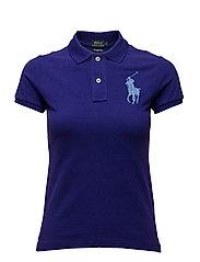 Skinny-Fit Big Pony Polo Shirt - CHALET PURPLE