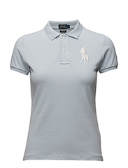 Skinny-Fit Big Pony Polo Shirt - WASHED BLUE