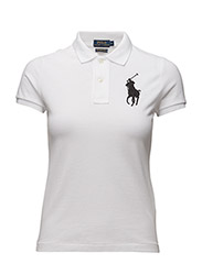 Skinny-Fit Big Pony Polo Shirt - WHITE