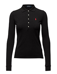 JULIE POLO LS KNT - POLO BLACK