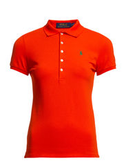 JULIE POLO SS KNT - BSKTBL ORANGE