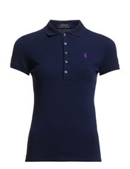 Skinny Fit Stretch Mesh Polo - CRUISE NAVY