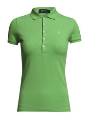 JULIE POLO SS KNT - FORCE GREEN