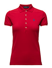 Skinny Fit Stretch Mesh Polo - RL2000 RED