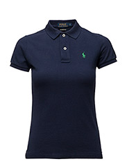 SKINNY FIT POLO SS KNT - NEWPORT NAVY