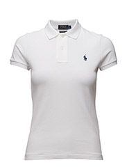 SKINNY FIT POLO SS KNT - WHITE