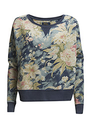 FLORAL FRENCH TERRY CREWNECK - NAVY FLORAL PRI