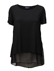SS SCP W LAY-SHORT SLEEVE-KNIT - BLACK