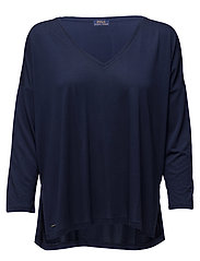 JERSEY V-NECK TEE - CRUISE NAVY