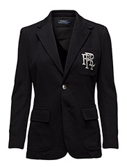 KNIT COTTON BLAZER - POLO BLACK