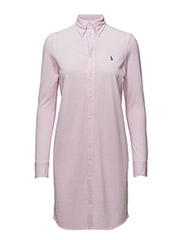 Knit Oxford Shirtdress - CARMEL PINK