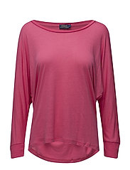 PONCHO TEE-ELBOW SLEEVE-KNIT - HOT PINK