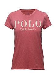 Polo Cotton Tee - SUN RED