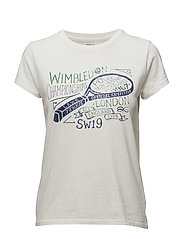 Wimbledon Cotton Graphic Tee - DECKWASH WHITE