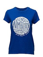 Wimbledon Cotton Graphic Tee - SAPPHIRE STAR
