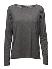 LS POCKET T-LONG SLEEVE-KNIT - GRAVEL GREY HEATHER
