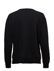 LS CN-LONG SLEEVE-KNIT - POLO BLACK