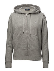 HOODED FZ-LONG SLEEVE-KNIT - ANDOVER HEATHER